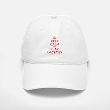 Keep Calm Play Lacross Baseball Baseball Cap