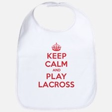 Keep Calm Play Lacross Bib