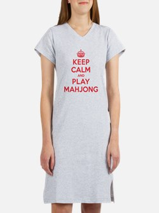 Keep Calm Play Mahjong Women's Nightshirt