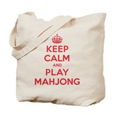 Keep Calm Play Mahjong Tote Bag