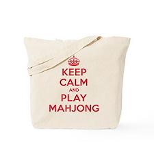 Keep Calm Play Mahjong Tote Bag