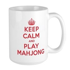 Keep Calm Play Mahjong Mug