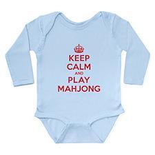 Keep Calm Play Mahjong Long Sleeve Infant Bodysuit