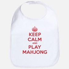 Keep Calm Play Mahjong Bib