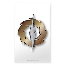 Thunder Wheel Sticker (Rectangle)