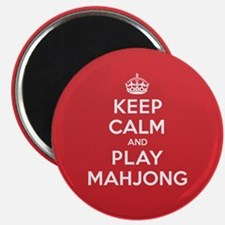 "Keep Calm Play Mahjong 2.25"" Magnet (10 pack)"