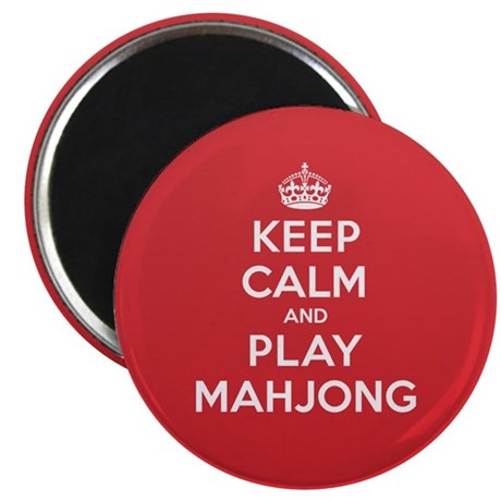 Keep Calm Play Mahjong Magnet