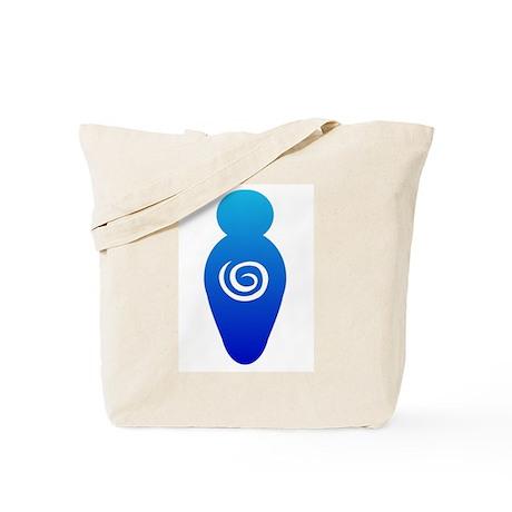 Blue Goddess Tote Bag