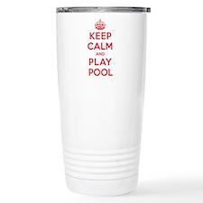 Keep Calm Play Pool Thermos Mug