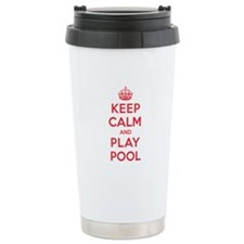 Keep Calm Play Pool Travel Mug