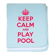 Keep Calm Play Pool baby blanket