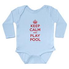 Keep Calm Play Pool Long Sleeve Infant Bodysuit