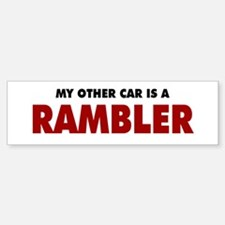 Other Car is a Rambler Bumper Bumper Sticker