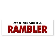 Other Car is a Rambler Bumper Sticker