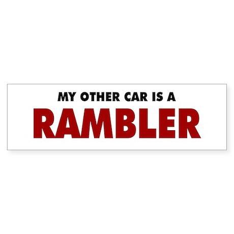 Other Car is a Rambler Sticker (Bumper)