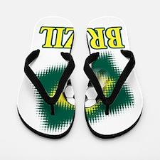 Brasil World Cup Soccer Flip Flops