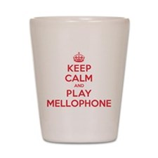 Keep Calm Play Mellophone Shot Glass