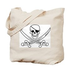 Eyepatch Skull & Crossed Swords Tote Bag