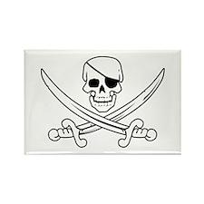 Eyepatch Skull & Crossed Swords Rectangle Magnet