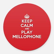 Keep Calm Play Mellophone Round Car Magnet