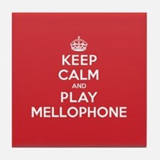 Keep Calm Play Mellophone Tile Coaster