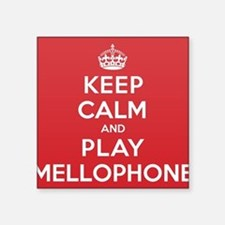 "Keep Calm Play Mellophone Square Sticker 3"" x 3"""
