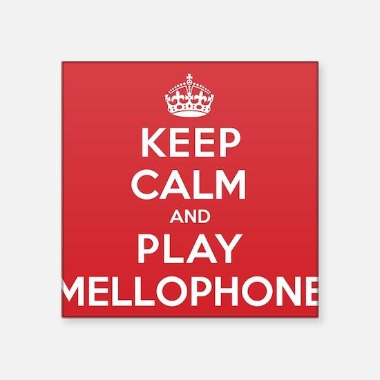 "Keep Calm Play Mellophone Square Sticker 3"" x 3"""
