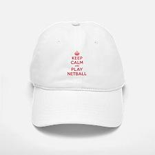 Keep Calm Play Netball Baseball Baseball Cap
