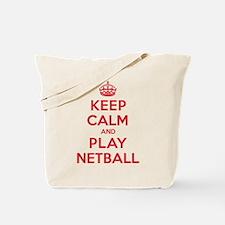 Keep Calm Play Netball Tote Bag