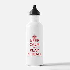 Keep Calm Play Netball Water Bottle