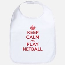 Keep Calm Play Netball Bib