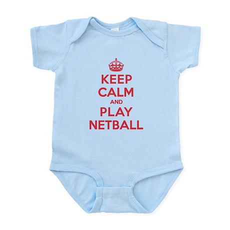 Keep Calm Play Netball Infant Bodysuit