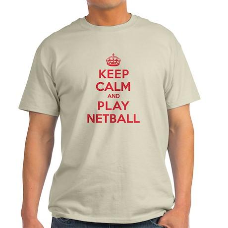 Keep Calm Play Netball Light T-Shirt