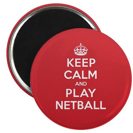 Keep Calm Play Netball Magnet