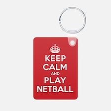 Keep Calm Play Netball Keychains