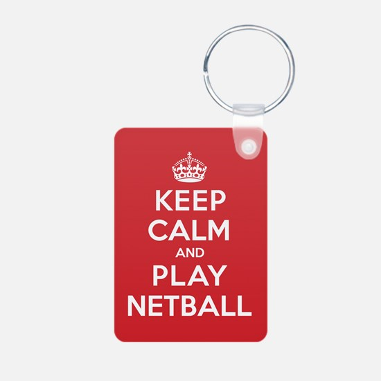 Keep Calm Play Netball Keychains