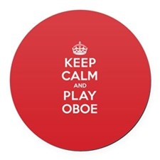 Keep Calm Play Oboe Round Car Magnet