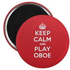 "Keep Calm Play Oboe 2.25"" Magnet (10 pack)"