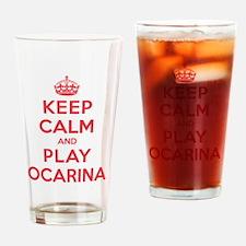 Keep Calm Play Ocarina Drinking Glass