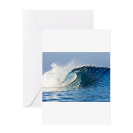 Fijian Wave Greeting Cards