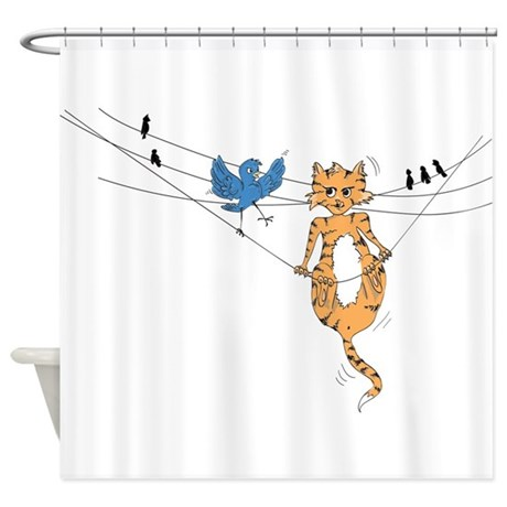 Angry Bird Shower Curtain By Laughingowldesign