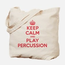 Keep Calm Play Percussion Tote Bag