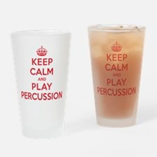 Keep Calm Play Percussion Drinking Glass