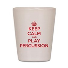 Keep Calm Play Percussion Shot Glass