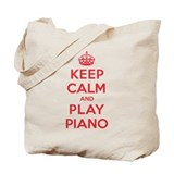 Keep calm and play piano Totes & Shopping Bags
