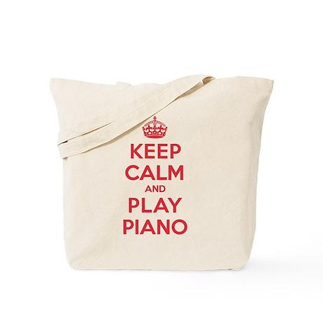 Keep Calm Play Piano Tote Bag