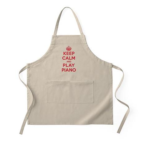 Keep Calm Play Piano Apron