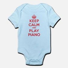 Keep Calm Play Piano Onesie