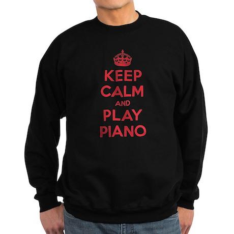 Keep Calm Play Piano Sweatshirt (dark)