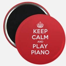 """Keep Calm Play Piano 2.25"""" Magnet (10 pack)"""